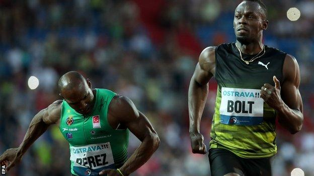 Bolt labours to victory in one of his final 100m races – report & video