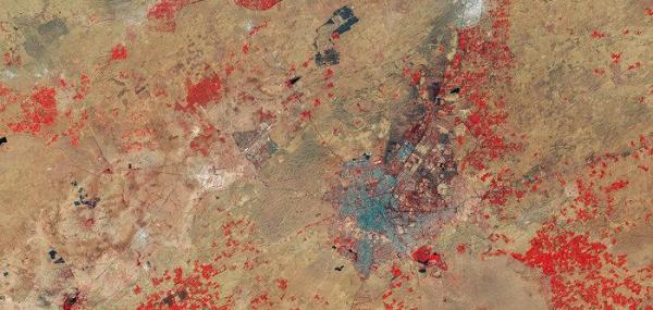 Satellite image showcases centuries of desertification in India