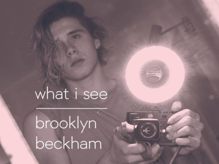 Brooklyn Beckham: 'Photographer, not model'