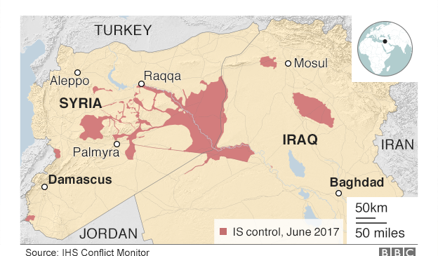 Inside the fight for IS 'capital'