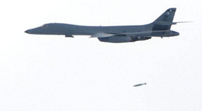 North Korea warns US over practice bomb run