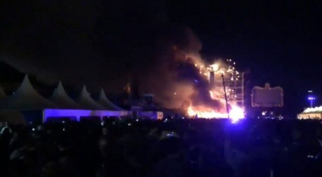 22,000 evacuated after Spanish festival fire