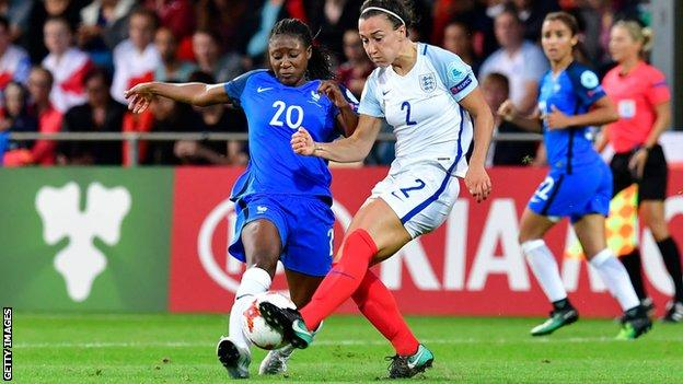 Lucy Bronze in action against France