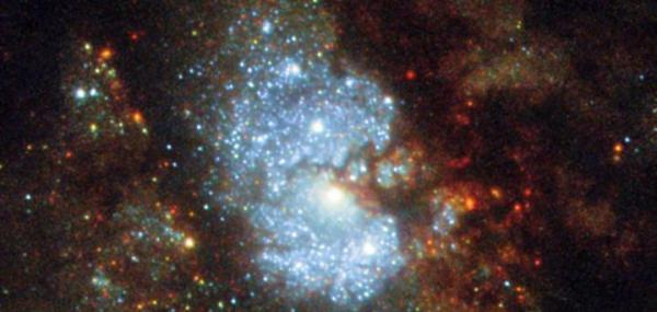 Hubble captures image of 'hidden galaxy'
