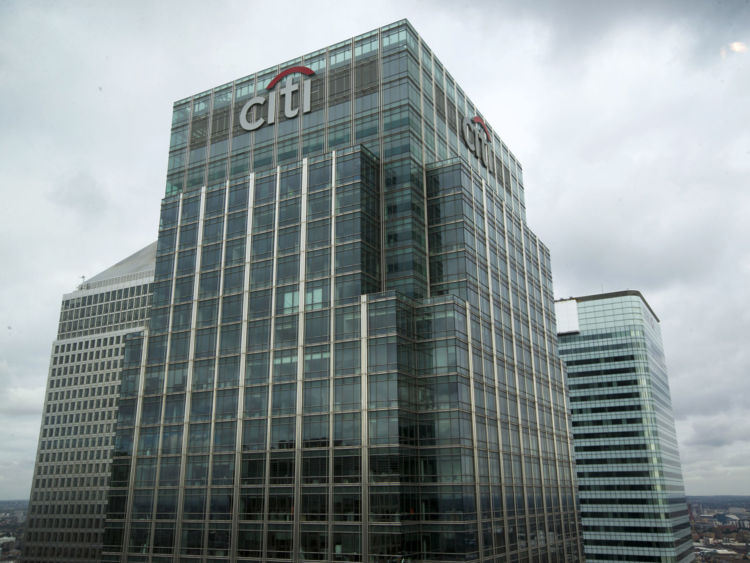 Citigroup's skyscraper headquarters in Canary Wharf