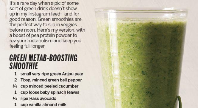 A Fat-Burning Green Smoothie Recipe to Kickstart Your Morning
