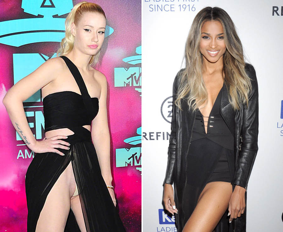 Celebs flash the V in these wardrobe malfunctions