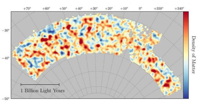 New map of Universe's dark matter