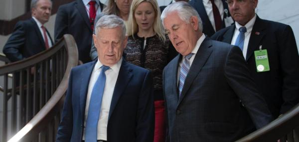 Tillerson, Mattis say 'no' to regime change on North Korea