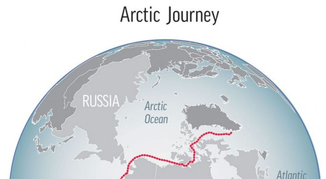 Arctic voyage finds global warming impact on ice, animals