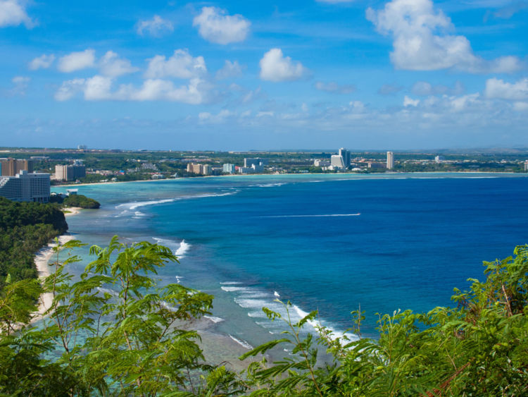 Guam, a US territory in the western Pacific Ocean, is one to more than 160,000 people
