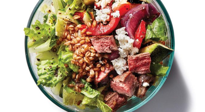 This Veggie and Steak Grain Bowl May Be The Most Balanced Meal Ever