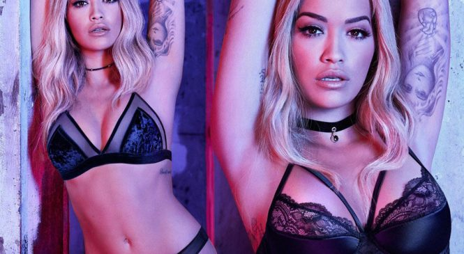Peek-a-boob: Rita Ora serves breast appeal in sheer lingerie