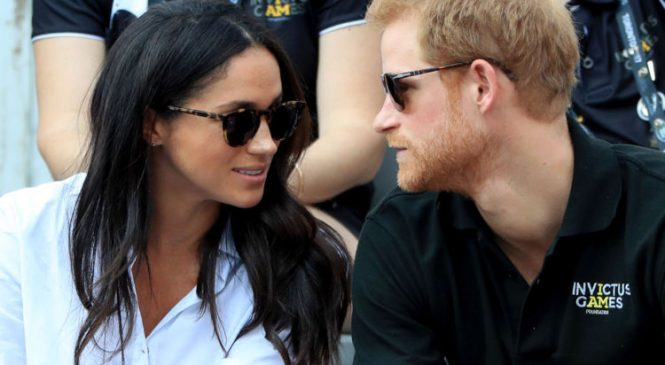 Harry and Meghan's first public outing together