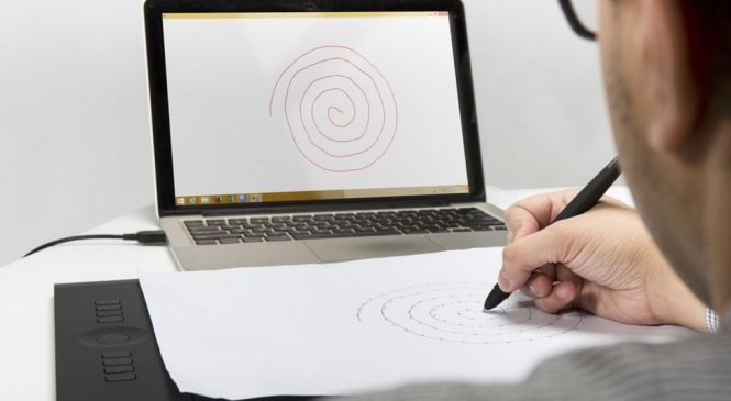 Spiral drawing test detects signs of Parkinson's