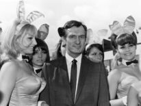 Hefner arrives at London Airport in June 1966