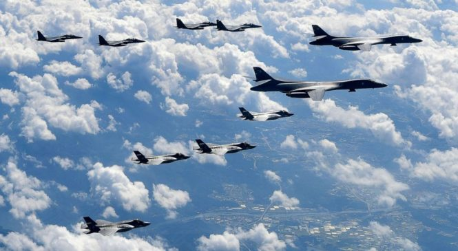 US flies bombers off North Korean coast to send message on 'military options'