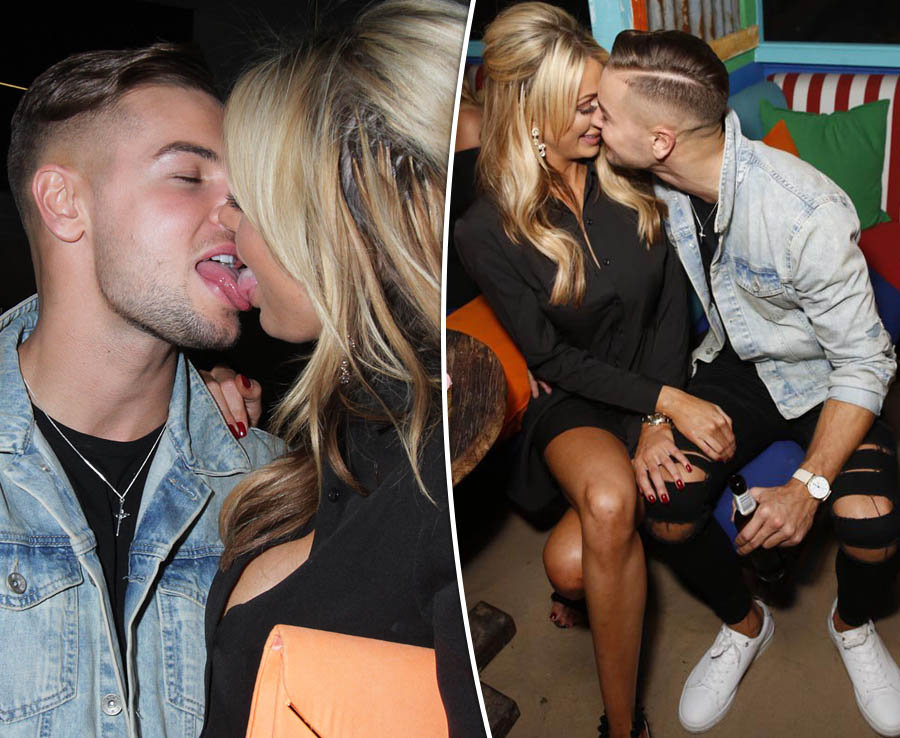 Love Island's Olivia Attwood and Chris Hughes in graphic make-out session