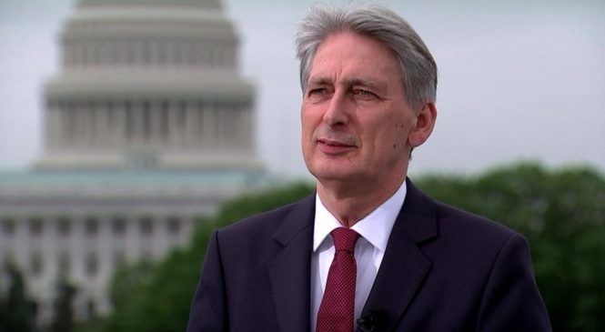 Philip Hammond says his remarks were a poor choice of words