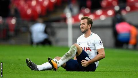 Tottenham's Kane out of Man Utd game