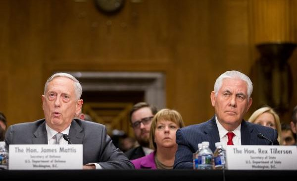 Mattis, Tillerson ask Congress for authorization of military force without end date