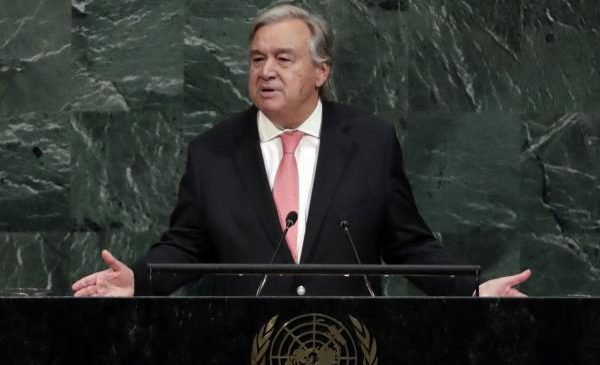 U.N. leader Guterres marks 1st U.N. Day with message of peace