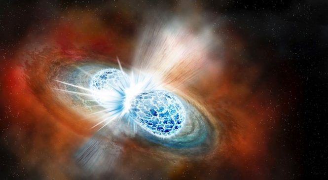Scientists witness huge cosmic crash, find origins of gold