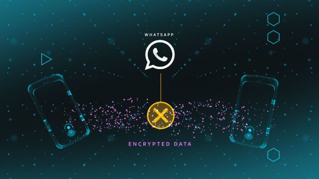 Graphic WhatsApp encryption screen.