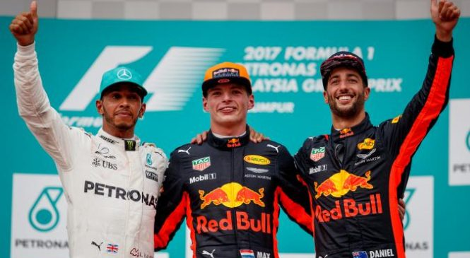 Malaysian Grand Prix: Lewis Hamilton extends championship lead to 34 points but Max Verstappen takes the chequered flag