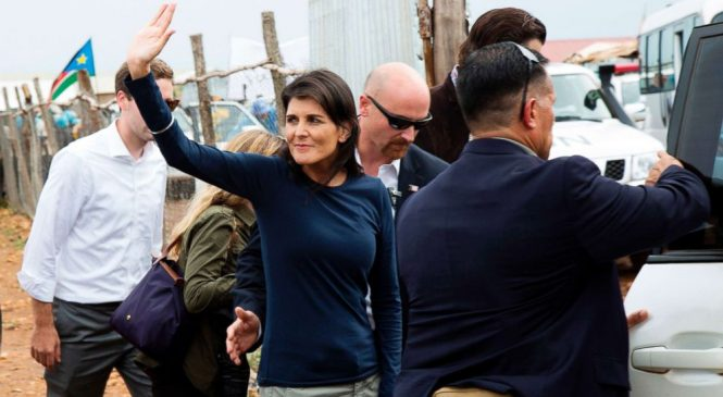 Protesters disrupt Nikki Haley's South Sudan camp visit