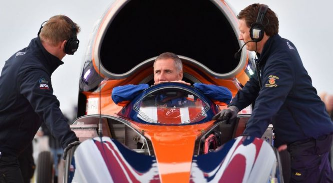 Supersonic car in test run for record attempt
