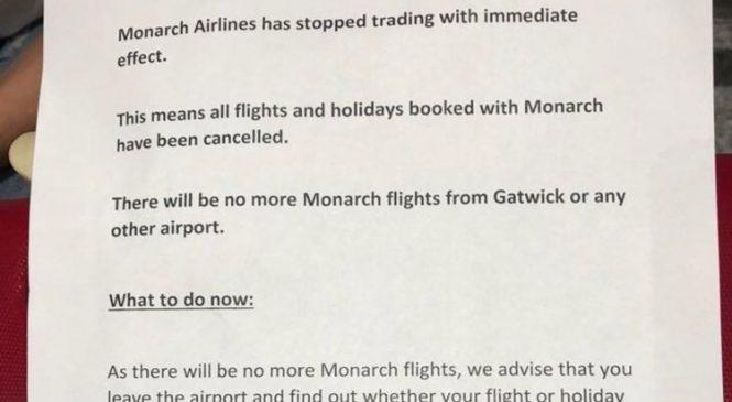 Redundancies follow Monarch Airlines collapse