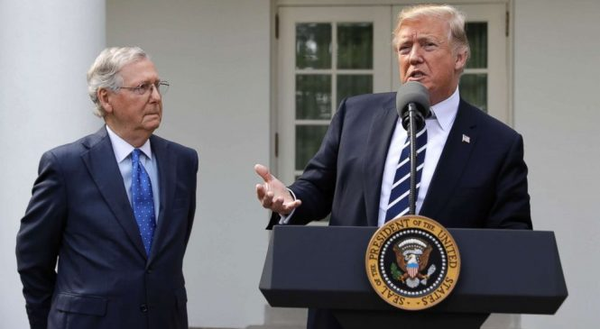 Key moments from Trump's wide-ranging press conference with McConnell