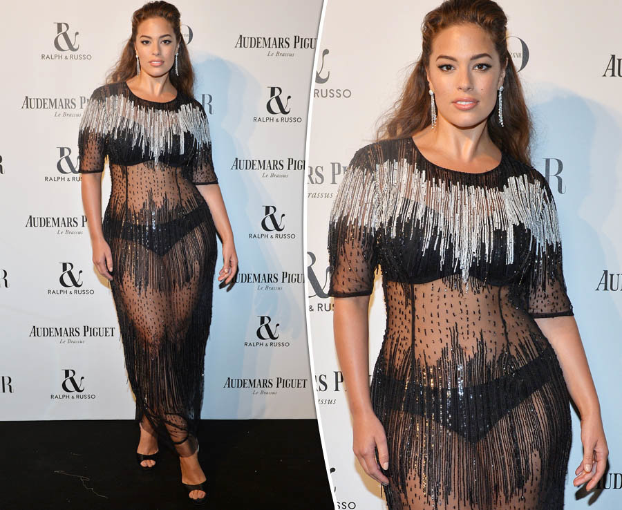 Ashley Graham ramps up sex appeal in 100% see-through dress for the Harper's Bazaar Women of the Year Awards 2017