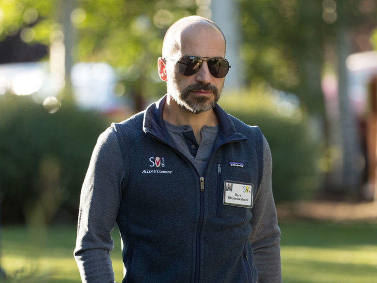 SUN VALLEY, ID - JULY 7: Dara Khosrowshahi, chief executive officer of Expedia, Inc., attends the annual Allen & Company Sun Valley Conference, July 7, 2016 in Sun Valley, Idaho. Every July, some of the world's most wealthy and powerful businesspeople from the media, finance, technology and political spheres converge at the Sun Valley Resort for the exclusive weeklong conference. (Photo by Drew Angerer/Getty Images)