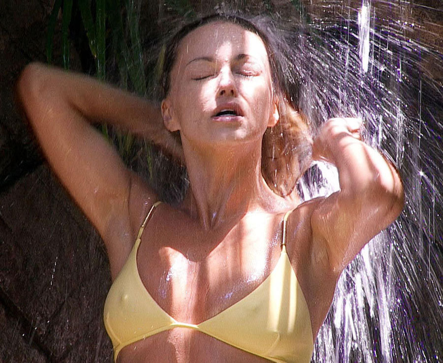 Ola Jordan showers on 'I'm a Celebrity...Get Me Out of Here!'