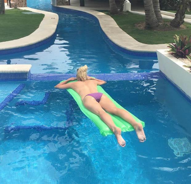 Rebecca Adlington topless on holiday