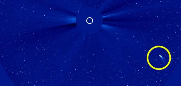 SOHO spacecraft spots comet 96P, a return visitor
