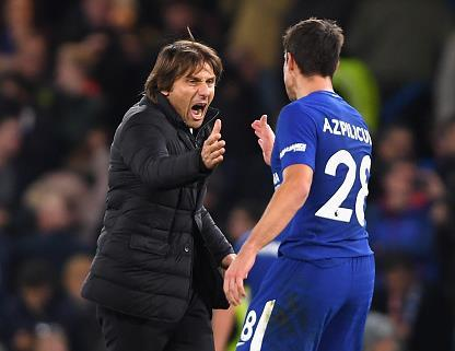 Chelsea boss Antonio Conte hails performances of Alvaro Morata and Cesar Azpilicueta in victory over Manchester United