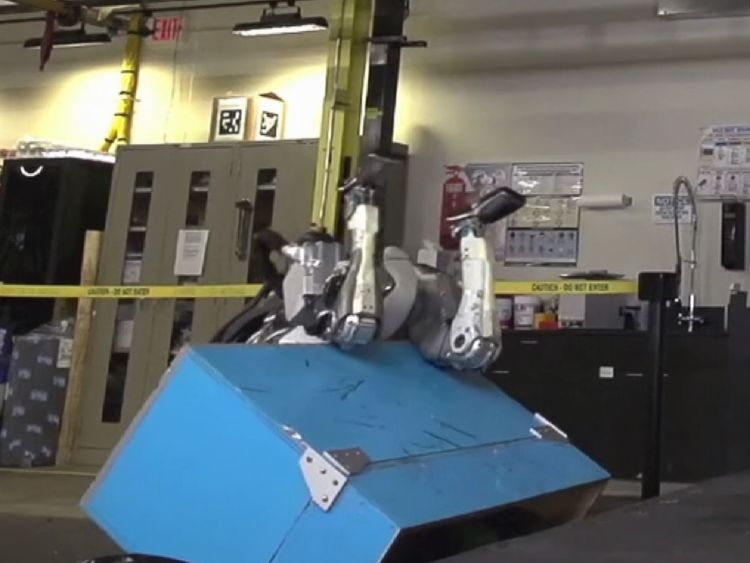 Oops! It did not all go according to plan. Pic: Boston Dynamics