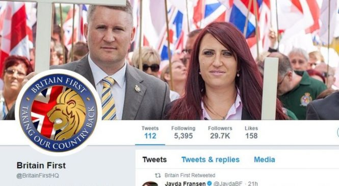 Twitter suspends Britain First leaders