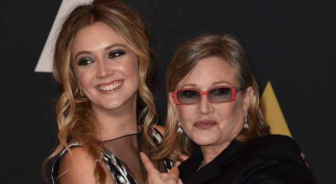 Carrie Fisher's daughter: 'I love you times infinity'