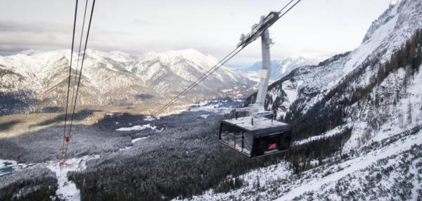 Record-breaking cable car opens in Germany