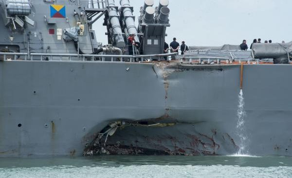 USS John McCain crew rated it 'below average' before deadly collision