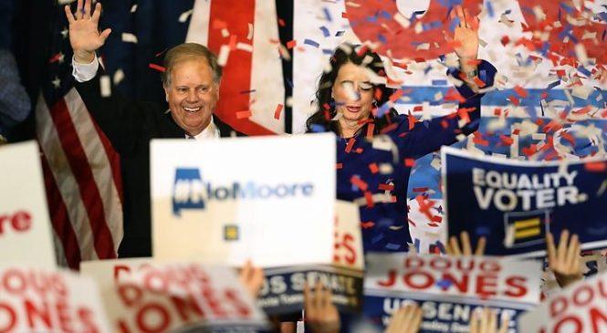 Democrat defeats Moore in Alabama race
