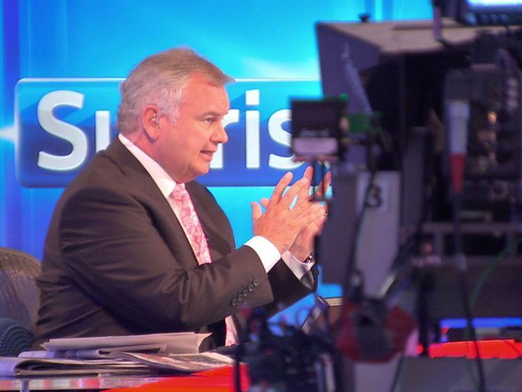 Former Sky News Sunrise presenter Eamonn Holmes is receiving an OBE