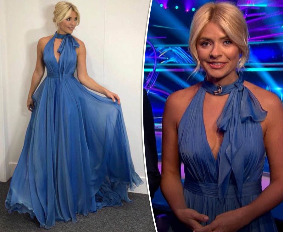 Holly Willoughby unleashes asset in Dancing On Ice dress