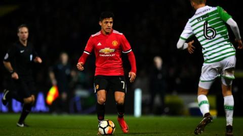 Sanchez makes debut as Man Utd ease past Yeovil