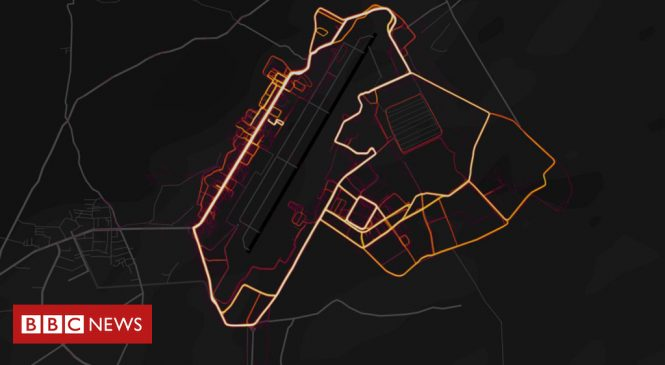Fitness tracker Strava lights up military base