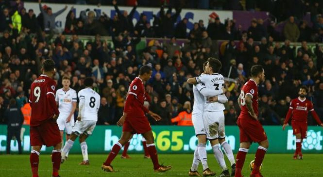 Swansea 1-0 Liverpool: Reds suffer shock loss in Wales
